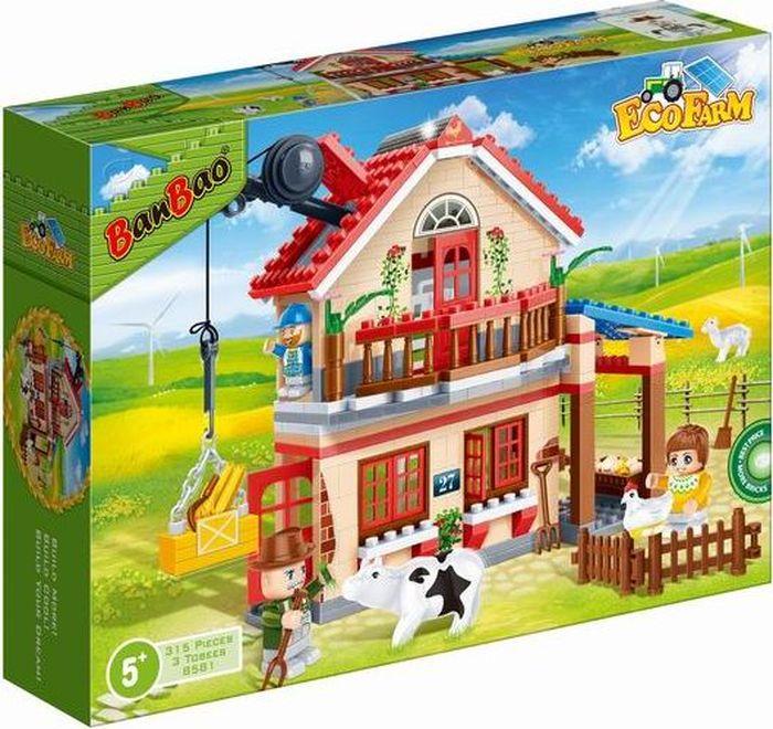 BanBao Пластиковый конструктор Фермерский домик 315 деталей banbao пластиковый конструктор истребитель 155 деталей