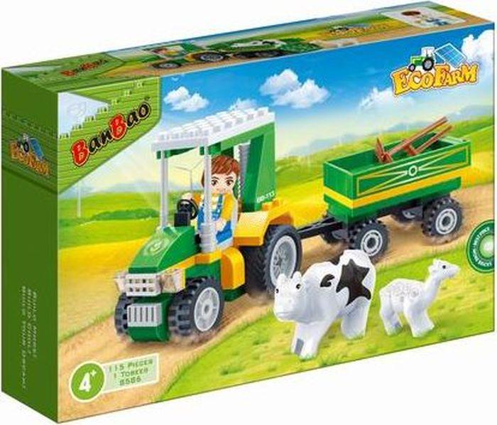 BanBao Пластиковый конструктор Фермерский трактор 115 деталей
