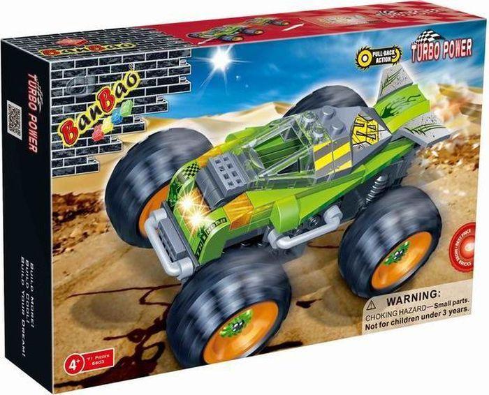 BanBao Пластиковый конструктор Внедорожник Thunder 71 деталь banbao пластиковый конструктор истребитель 155 деталей