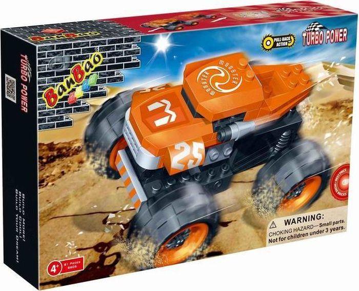 BanBao Пластиковый конструктор Грузовик Monster 81 деталь banbao пластиковый конструктор истребитель 155 деталей