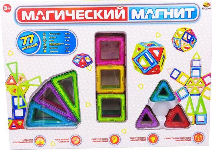 ABtoys Магнитный конструктор Магический магнит 77 деталей - Конструкторы