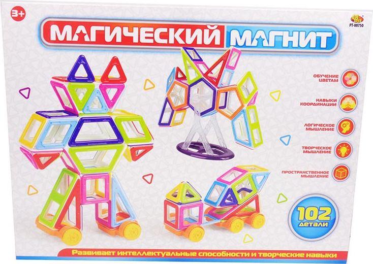 ABtoys Магнитный конструктор Магический магнит 102 детали - Конструкторы
