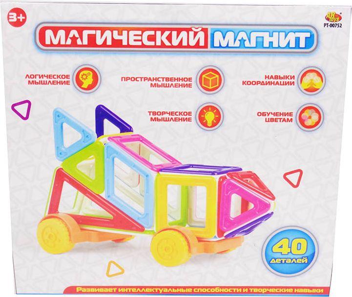 ABtoys Магнитный конструктор Магический магнит 40 деталей PT-00752 - Конструкторы