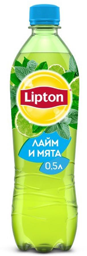 Lipton Ice Tea Лайм-Мята холодный чай, 0,5 л lipton ice tea лимон холодный чай 1 5 л