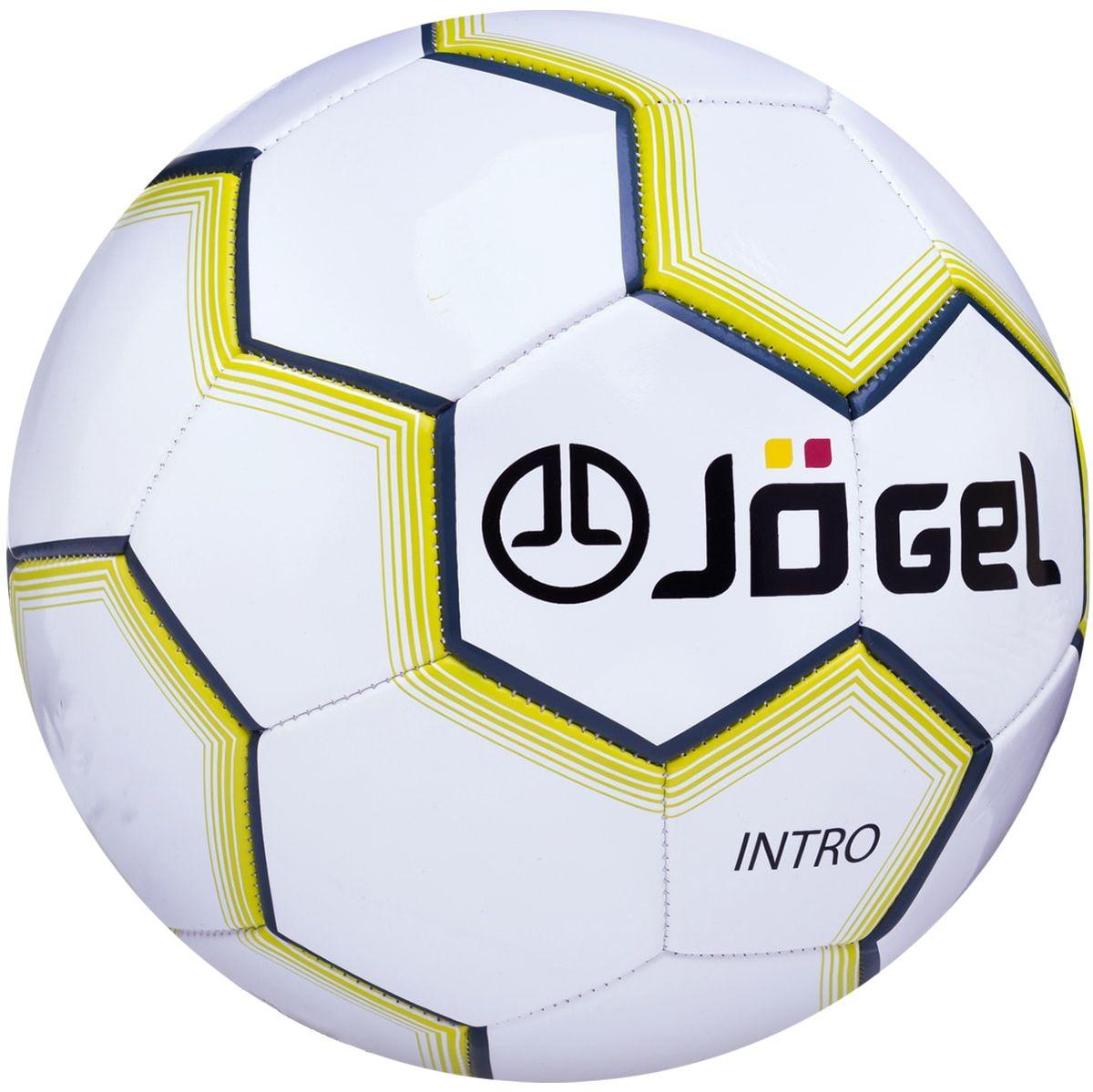 Мяч футбольный Jogel Intro, цвет: белый. Размер 5. JS-100УТ-00011388Категория: Мячи футбольные Уровень: Любительский Jogel - любительский футбольный мяч, который сочетает в себе простоту конструкции, контрастные графические элементы и самую низкую стоимость в линейки футбольных мячей Jogel. По своим характеристикам подходит как детям, так и взрослым. Поверхность мяча выполнена из синтетической кожи (поливинилхлорид) толщиной 2,0 мм. Мяч имеет 2 подкладочных слоя и оснащен бутиловой камерой, обеспечивающей долгое сохранение воздуха в камере. Данный мяч рекомендован для любительской игры и тренировок любительских команд. Основной цвет: Белый Дополнительный цвет: Черный/серый/желтый Рекомендованные покрытия: натуральный газон, синтетическая трава, резина, гаревые поля, паркет Материал поверхности: Синтетическая кожа (поливинилхлорид) толщиной 2,0 мм Материал камеры: Бутил Тип соединения панелей: Машинная сшивка Количество панелей: 32 Длина окружности: №5 - 68-70 см Вес: 410-450 гр Рекомендованное давление: 0.4-0.6 бар Производство: КНР