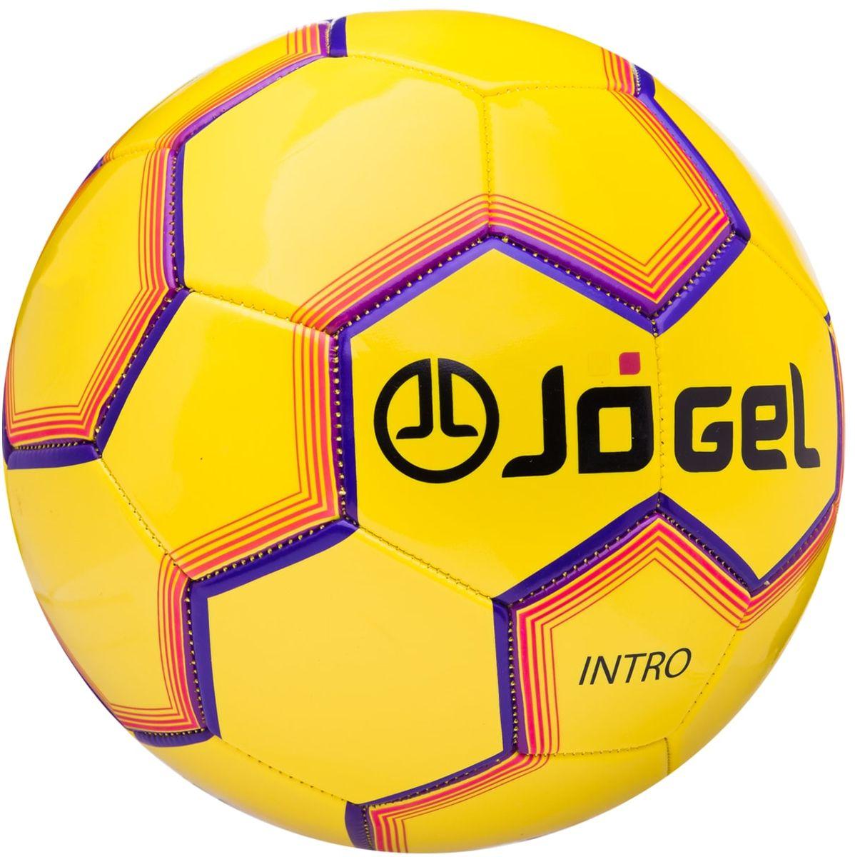 """Мяч футбольный Jogel """"Intro"""", цвет: желтый. Размер 5. JS-100"""