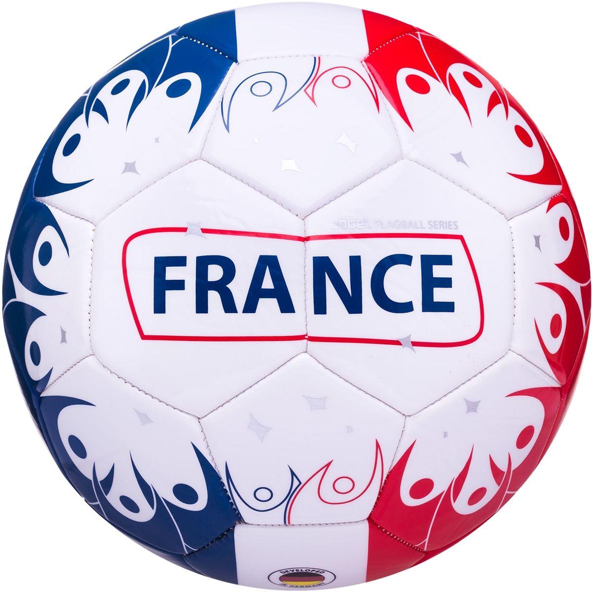 Мяч футбольный Jogel France, цвет: белый, красный, синий. Размер 5 мячи спортивные jogel мяч баскетбольный jogel jb 300 6