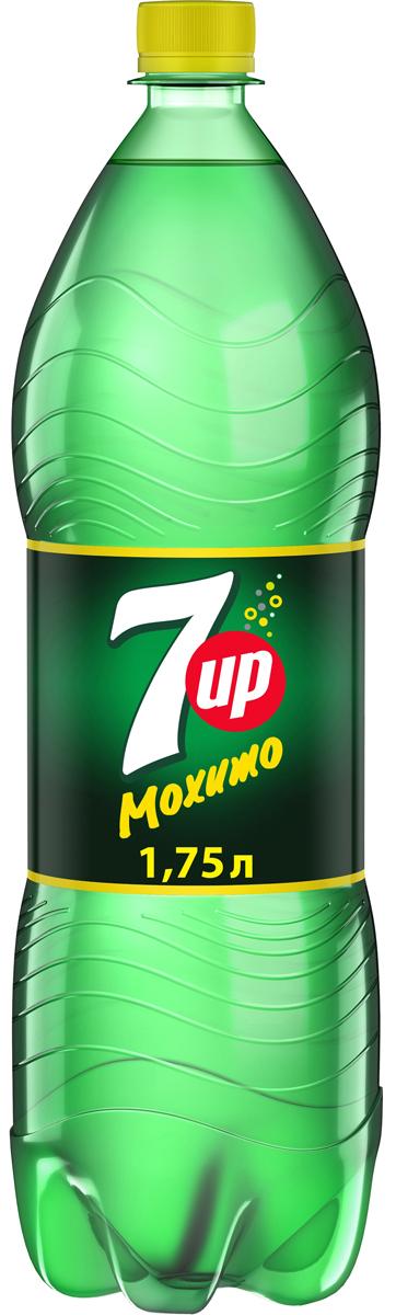 7-UP Лайм-Мята напиток сильногазированный, 1,75 л напиток сильногазированный 7 up лимон лайм 0 6л пэт