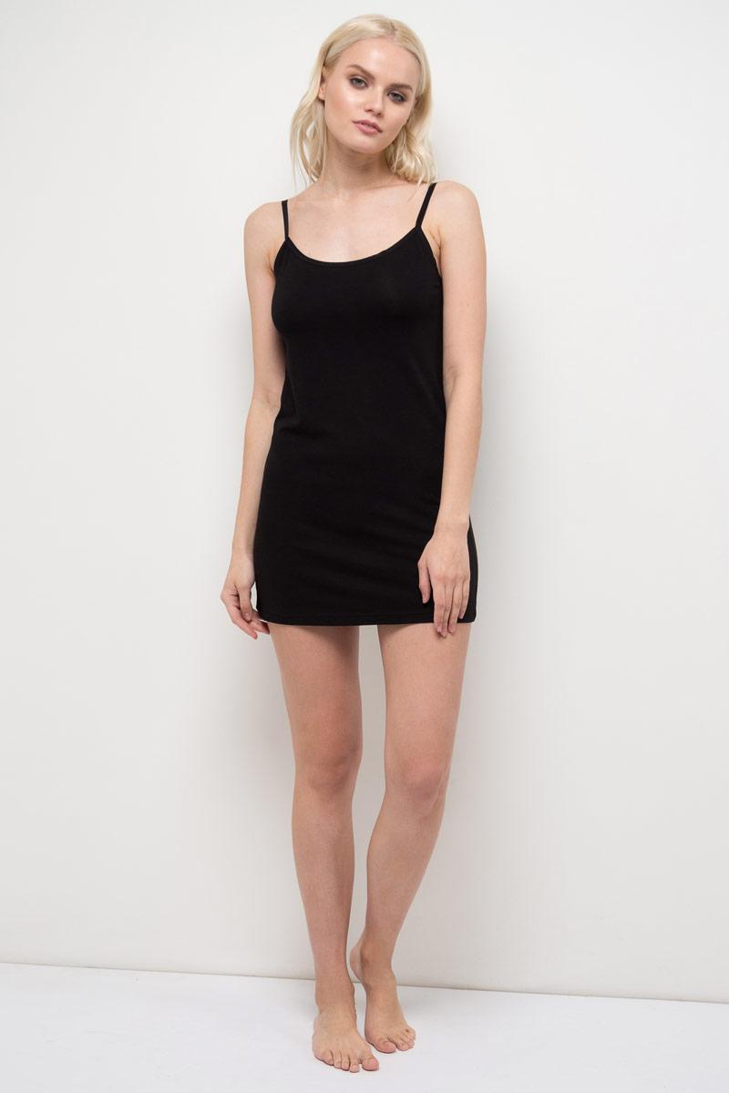 Топ женский Sela, цвет: черный. Sub-151/016-8181. Размер XS (42)