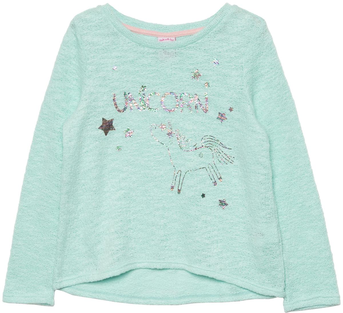 Джемпер для девочки Sela, цвет: светло-ментоловый. T-511/452-8110. Размер 116