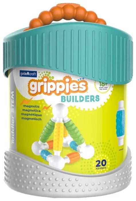 GuideCraft Магнитный конструктор Better Builders Grippies G8311 игровые фигурки guidecraft игровые фигурки better builders набор профессии