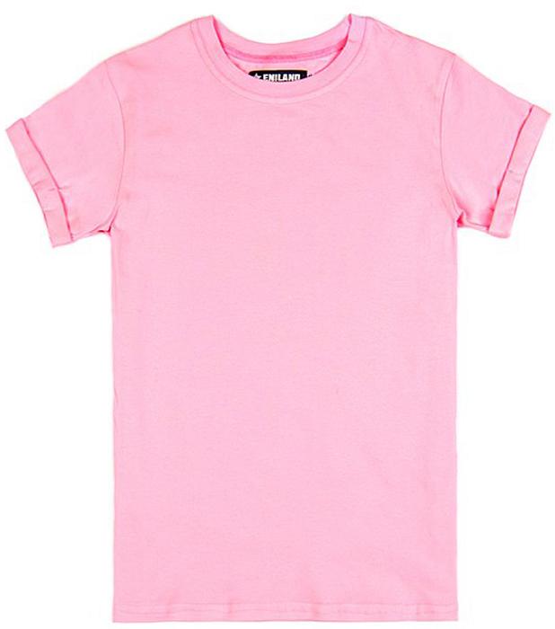 Футболка женская Eniland, цвет: розовый. 29071699. Размер L (46)29071699Однотонная базовая футболка Eniland выполнена из хлопка с добавлением эластана. Модель имеет короткие рукава и круглый вырез горловины.
