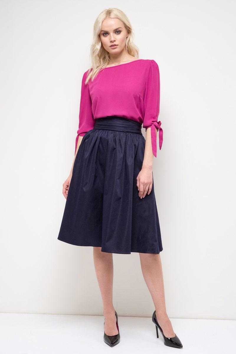 Блузка женская Sela, цвет: фуксия. Tc-111/966-8110. Размер 46 sela шарф