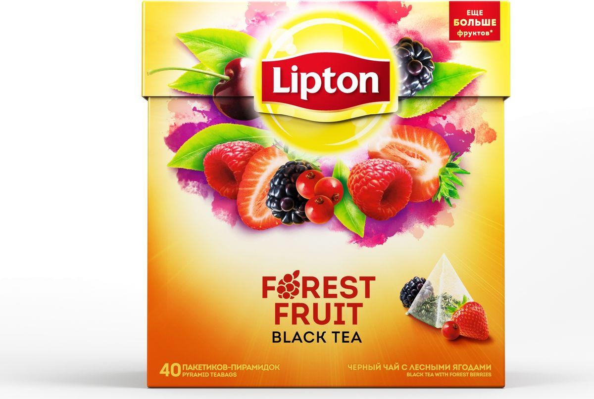 Lipton Forest Fruit Tea черный чай с кусочками ягод в пирамидках, 40 шт67293246Научно доказано, что в чае содержится огромное количество витаминов и микроэлементов, поэтому, выпивая чашку чая, вы не только поглощаете приятный и бодрящий напиток, но и получаете полезные вещества, такие, как: антиоксиданты, аминокислоты и белки, эфирные масла, придающие неповторимый аромат чаю. Чай мягко тонизирует и помогает сконцентрироваться. Чай с мировым именем Lipton - это лидер среди чайных брендов: его пьют в более чем 150 странах. Мировой объем потребления чая Lipton составляет 4,5 млрд литров в год. каждый день в мире выпивается 205 млн чашек чая Lipton. Ключевой фактор в укреплении лидерских позиций Lipton – высокое качество и внимание к меняющимся предпочтениям потребителей. Специалисты Lipton внимательно следят за каждым этапом создания чая, начиная с рождения чайного листа и заканчивая купажированием, чтобы Вы могли в полной мере насладиться насыщенным вкусом и богатым ароматом вашего любимого чая. Продукция компании – это только свежие чайные листья, натуральный сок чайных листьев, насыщенный вкус и богатый аромат чая.Пусть ваш день станет ярче с превосходным вкусом чая Lipton Black Forest fruit! Восхитительные кусочки лесных ягод кружатся в танце внутри пирамидки! Подарите себе неповторимую свежесть ощущений! Насладитесь безупречной гармонией вкусов этого великолепного ягодного коктейля, который прекрасно освежает и тонизирует.Откройте для себя всю силу чайного листа вместе с всемирно известным напитком от Lipton!