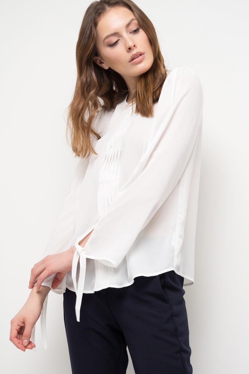 Блузка женская Sela, цвет: белый. Tw-112/787-8120. Размер 50 цена 2017