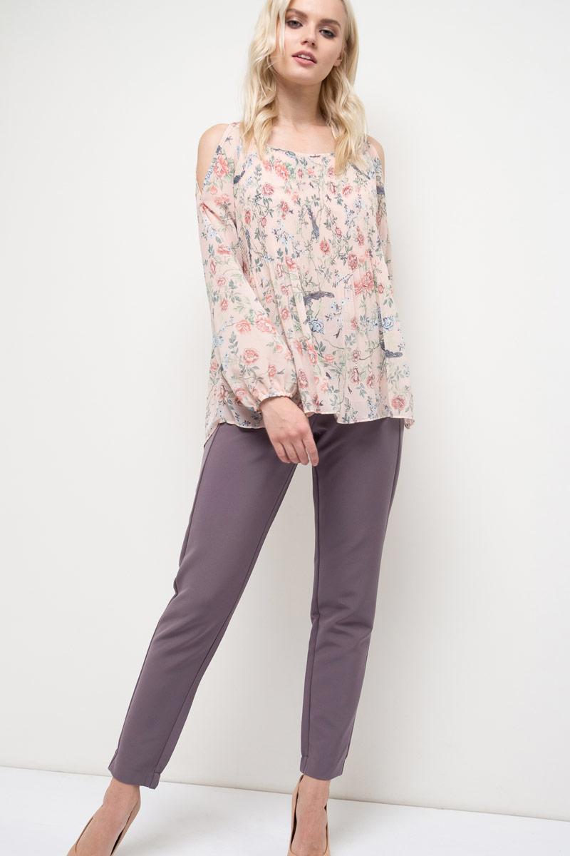 Блузка женская Sela, цвет: розовый. Tw-112/788-8120. Размер 42Tw-112/788-8120Блузка женская Sela выполнена из полиэстера. Модель с длинными рукавами оформлена оригинальным принтом.