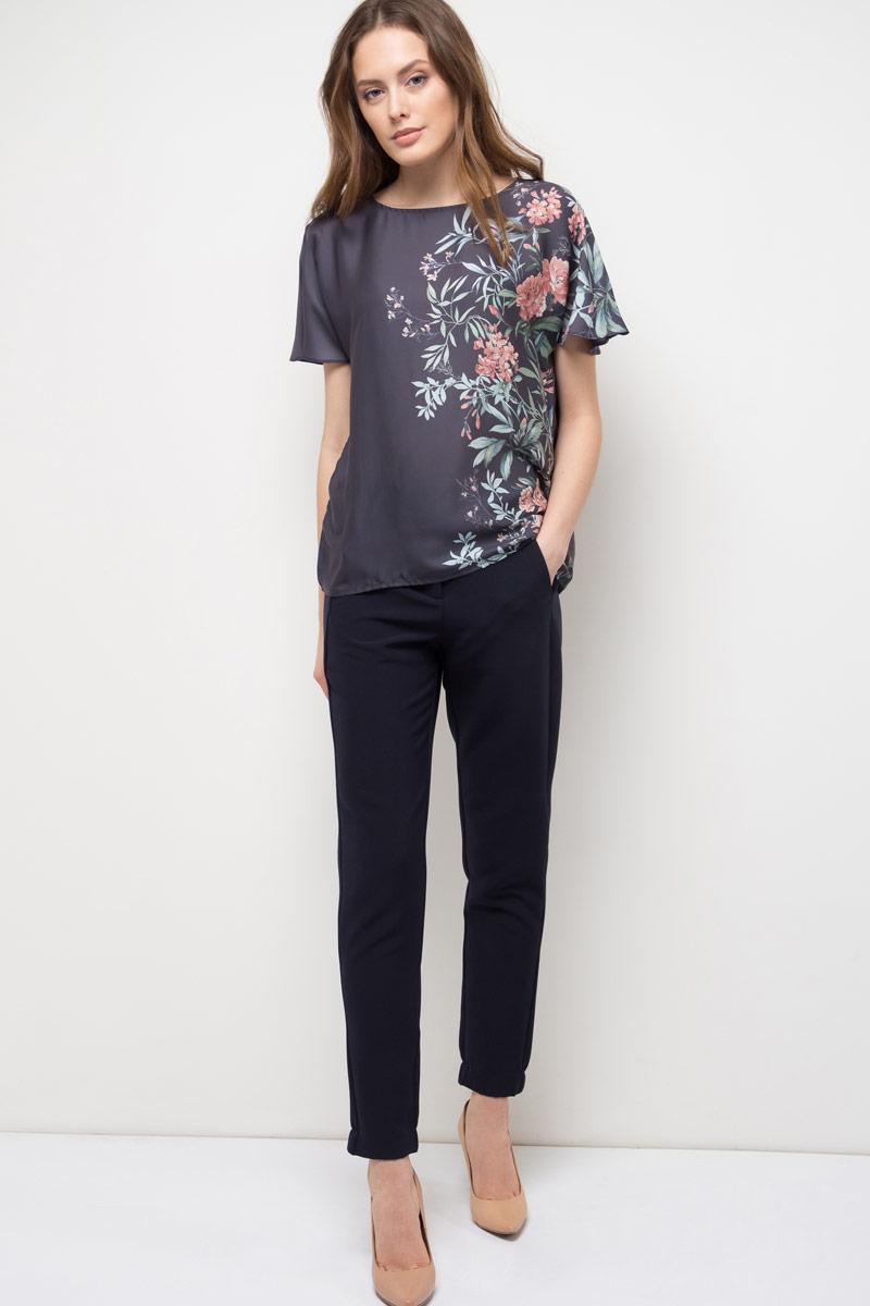Блузка женская Sela, цвет: графит. Tws-112/791-8120. Размер XS (42) sela b 112 225 7244