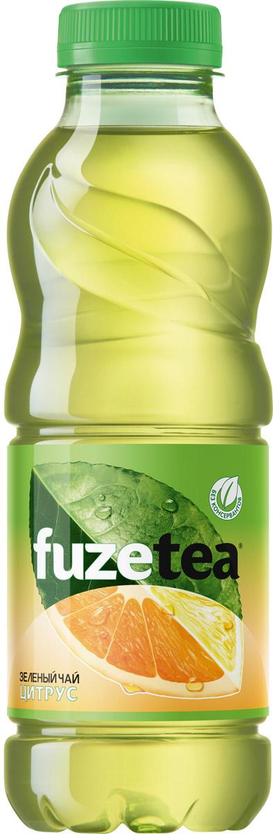 Fuzetea Зеленый цитрус зеленый чай, 0,5л fuzetea клубника малина зеленый чай 1 5 л