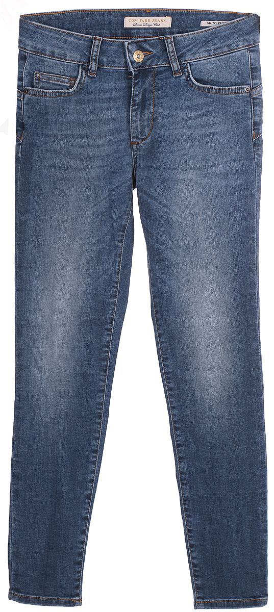 Джинсы женские Tom Farr, цвет: синий. TW2709.35702-2-coll. Размер 25-32 (40-32)TW2709.35702-2-collЖенские джинсы от Tom Farr с эффектом Push-Up выполнены из эластичного хлопкового денима. Модель облегающего кроя в поясе застегивается на пуговицу и имеет ширинку на молнии, имеются шлевки для ремня. Джинсы имеют классический пятикарманный крой.