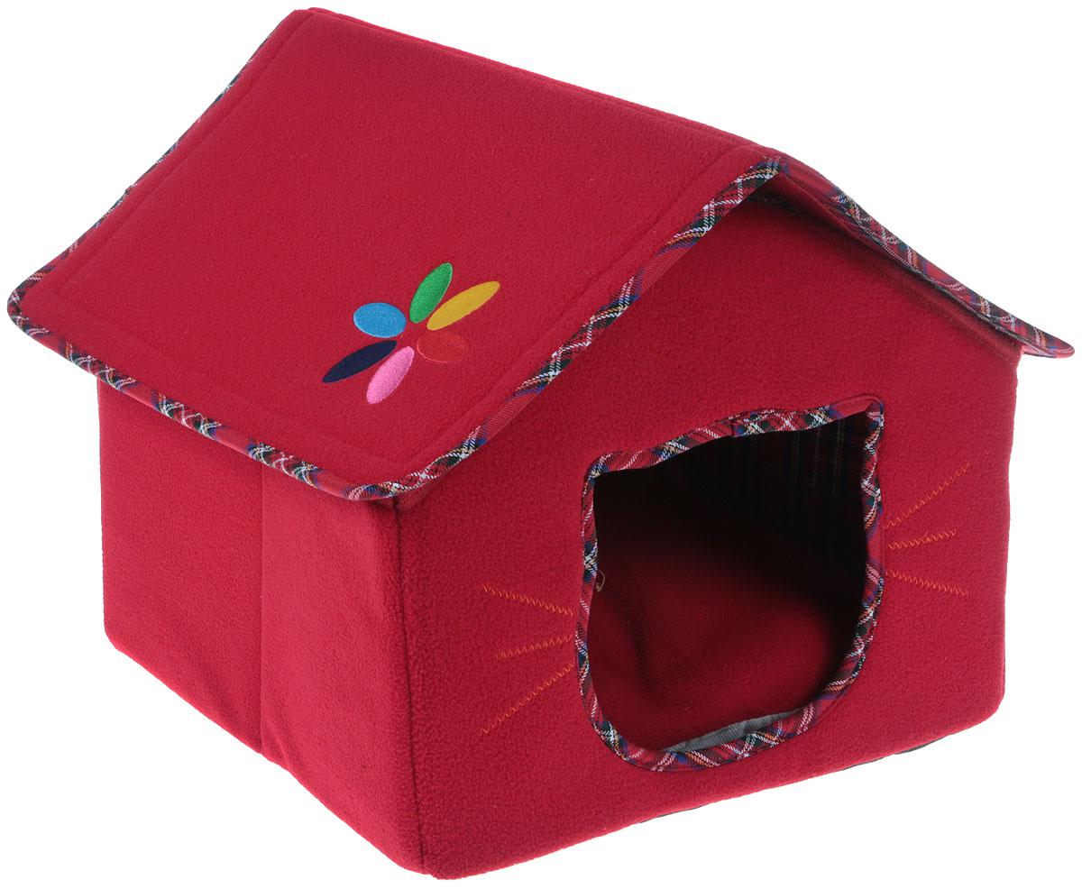 Домик-будка для животных Camon, цвет: красный, 42 х 35 х 35 смCG001/AДомик-будка Camon непременно станет любимым местом отдыха вашего домашнего животного. Изделие выполнено из высококачественного текстиля с плотными вставками. Наполнитель съемной подстилки-подушки - поролон.В таком домике вашему любимцу будет мягко и тепло. Он даст вашему питомцу ощущение уюта и уединенности, а также возможность спрятаться.Домик легко разбирается и собирается при помощи липучек.Размер домика: 42 х 35 х 35 см.Размер подстилки: 35 х 31,5 х 5 см.