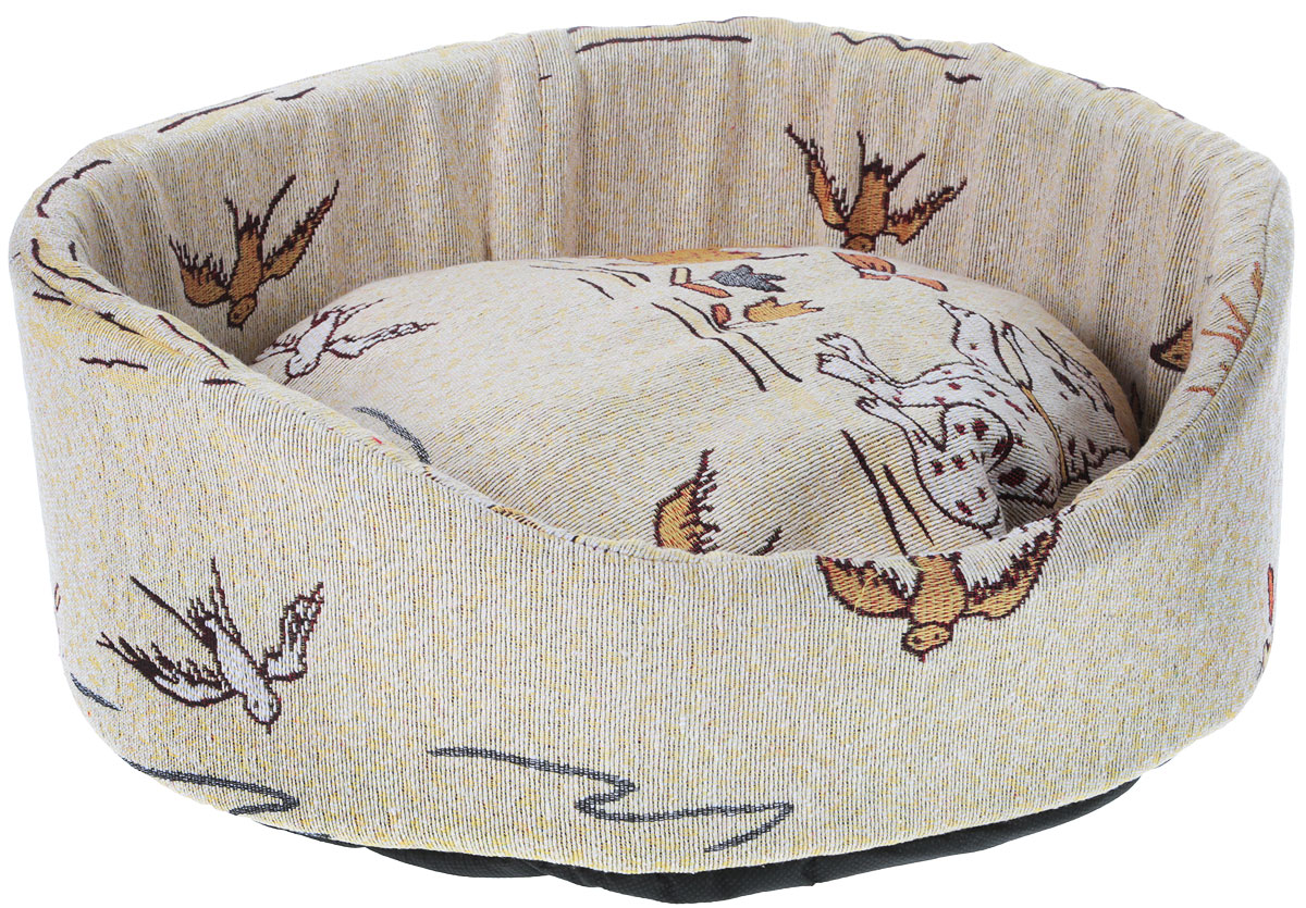 Лежак для кошек и собак GLG Ринго М, цвет: бежево-золотой, 42 х 42 х 15 см. L006/AL006/C_щенки, бабочки, птичкиЛежак для животных GLG Ринго М прекрасно подойдет для отдыха вашего домашнего питомца.Предназначен для собак мелких пород и кошек.Изделие выполнено из высококачественноготекстильного материала, а наполнителем является мягкий поролон. Такой материал не теряетсвоей формы долгое время.Внутри имеется мягкая съемная подушка-подстилка. Роскошный уютный лежак GLG Ринго М станет излюбленным местом отдыха для вашегопитомца, а стильный дизайн сделает его настоящим украшением интерьера.Размер лежака: 42 х 42 х 15 см.