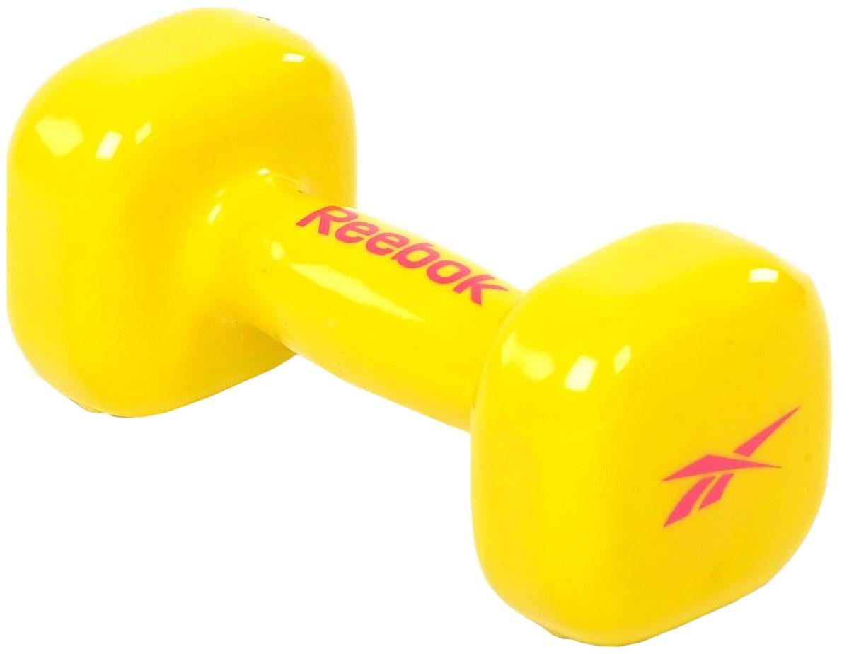 Гантель Reebok Dumbbell Yellow, цвет: желтый, 3 кг