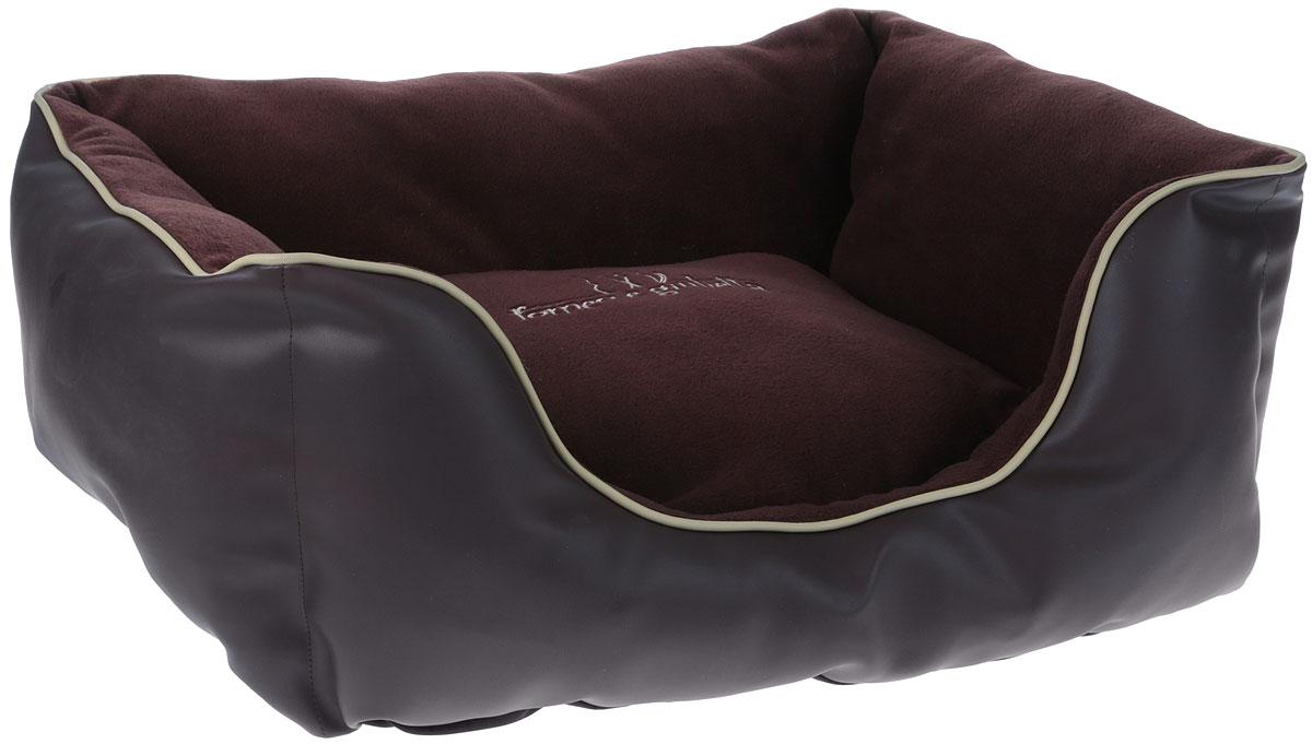 Лежак для животных Camon, моющийся, цвет: темно-коричневый, 64 x 47 x 20 см игрушка для животных каскад удочка с микки маусом 47 см