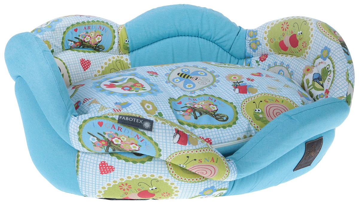 Лежак для животных Fabotex Rosae. Размер L лежак дарэлл хантер лось 2 с подушкой 55 40 16см