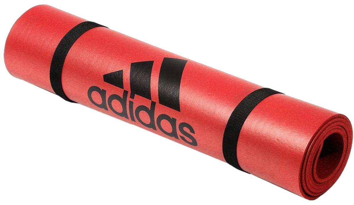Тренировочный коврик для фитнеса  Adidas , цвет: оранжевый, толщина 6 мм - Инвентарь