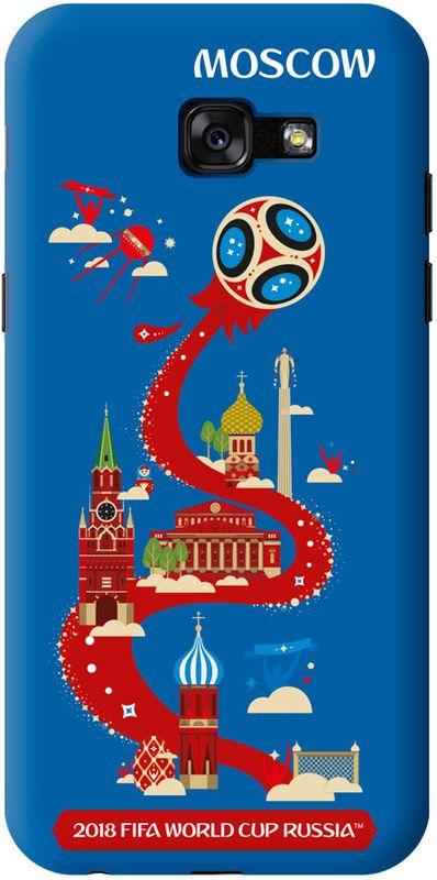 Deppa FIFA Москва чехол для Samsung Galaxy A5 (2017), Black103990Чехол к чемпионату мира по футболу FIFA.