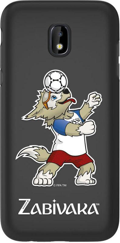 Deppa FIFA Забивака_1 чехол для Samsung Galaxy J3 (2017), Black104007Чехол к чемпионату мира по футболу FIFA.