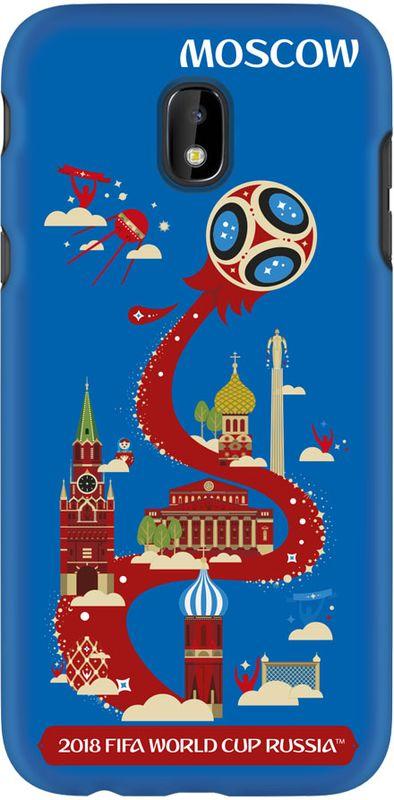 Deppa FIFA Москва чехол для Samsung Galaxy J3 (2017), Blue