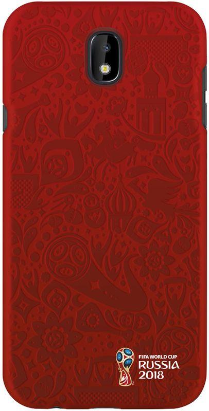 Deppa FIFA Логотип чехол для Samsung Galaxy J7 (2017), Red104054Чехол к чемпионату мира по футболу FIFA.