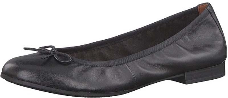 Балетки женские Tamaris, цвет: черный. 1-1-22116-20-003. Размер 40