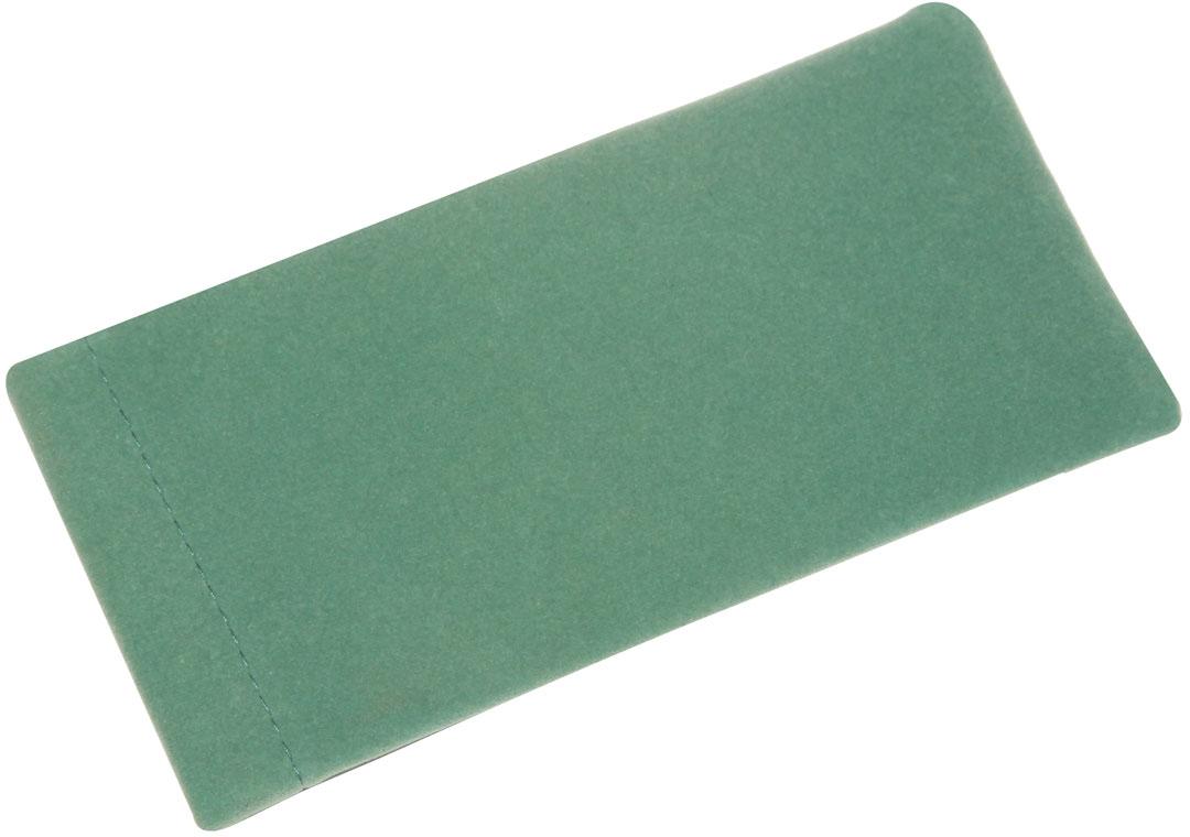 Proffi Home Футляр для очков Fabia Monti текстильный, мягкий, широкий, цвет: зеленый