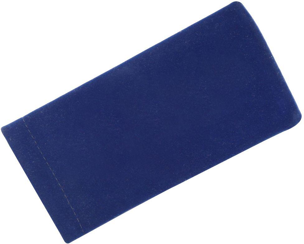 Proffi Home Футляр для очков Fabia Monti текстильный, мягкий, широкий, цвет: синий