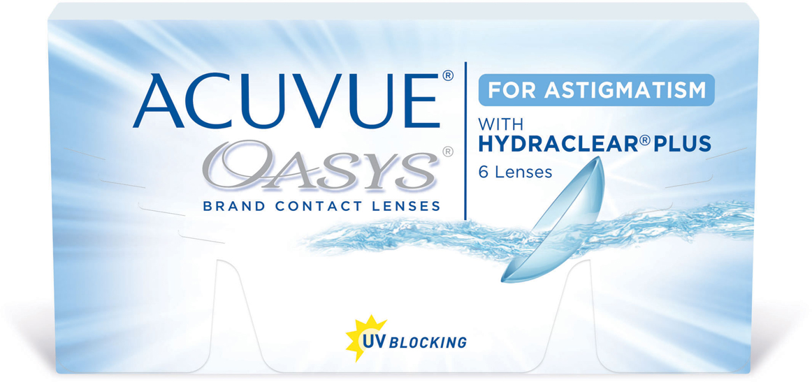 Johnson & Johnson контактные линзы Acuvue Oasys for Astigmatism/Диоптрии -6.50/Радиус 8.6/Цилиндр -2.25/Ось 180 - Астигматические линзы