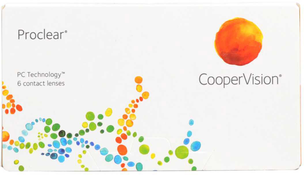 CooperVision Контактные линзы Proclear (6 pk)/Радиус кривизны 8,6/Оптическая сила -16,00