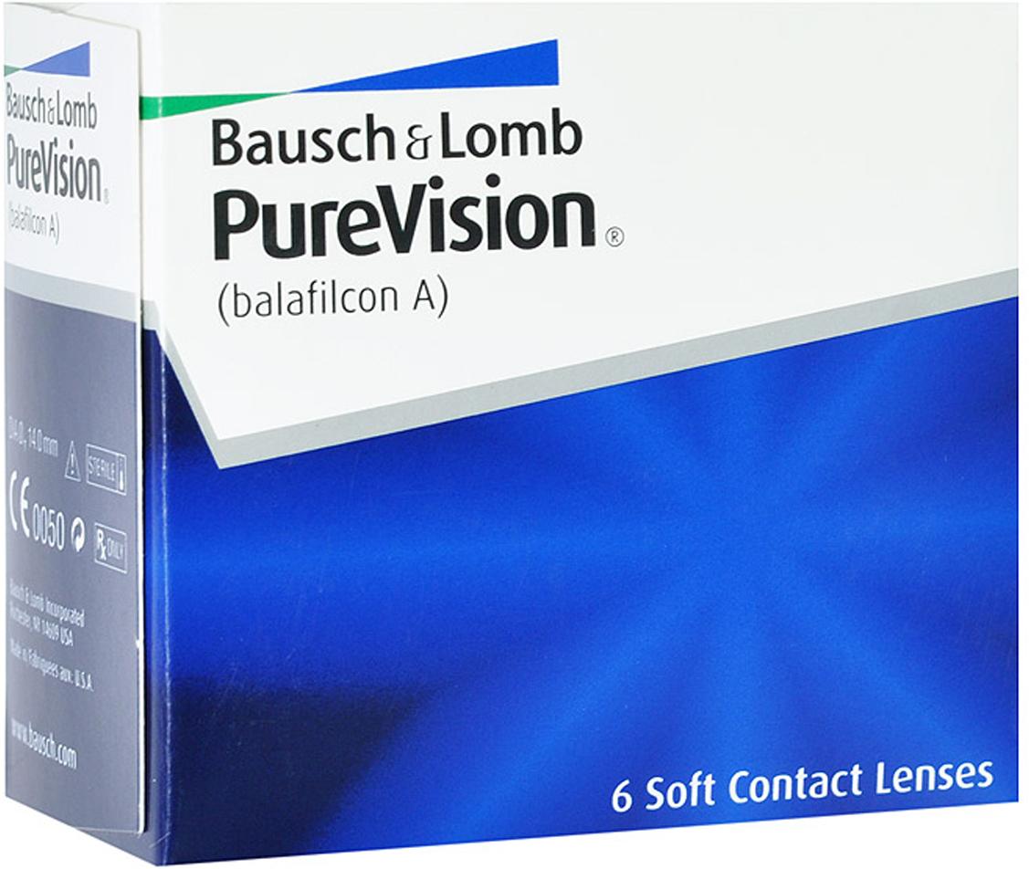 Bausch + Lomb контактные линзы PureVision (6шт / 8.6 / +0.50)07600Контактные линзы Pure Vision - это революционная разработка компании Bausch+Lomb!Использование новейших технологий дает возможность носить эту модель на протяжении месяца, не снимая. Ваши глаза не будут подвержены раздражению благодаря очень высокой кислородопроницаемости линз и особой конструкции линзы. Вам больше не придется надевать контактные линзы каждое утро, а вечером снимать их. Стоит лишь раз надеть линзы и заменить их новой парой через 30 дней.Технология AerGel используемая в Pure Vision, обеспечивает естественный уровень поступления кислорода к роговице глаза. Это достигается за счет соединения силикона и уникального гидрогеля. Технология обработки поверхности Performa делает контактные линзы постоянно увлажненными, повышает устойчивость к отложениям, делает зрение пациента максимально острым. Революционная конструкция линз Pure Vision позволяет улучшить подвижность, делает линзы очень тонкими и гладкими. Контактные линзы имеют подкраску для простоты использования.Внимание: плюсовые диоптрии производятся только в радиусе кривизны 8.3.Замена через 1 месяц. Характеристики:Материал: балафилкон А. Кривизна: 8.6. Оптическая сила: + 0.50. Содержание воды: 36%. Диаметр: 14 мм. Количество линз: 6 шт. Размер упаковки: 7,5 см х 7 см х 4 см. Производитель: США. Товар сертифицирован.Контактные линзы или очки: советы офтальмологов. Статья OZON Гид