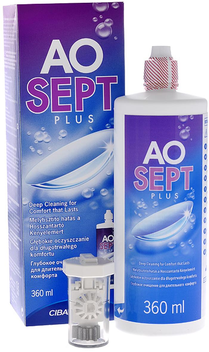 Aosept Plus Раствор для контактных линз, с катализатором, 360 мл, Alcon