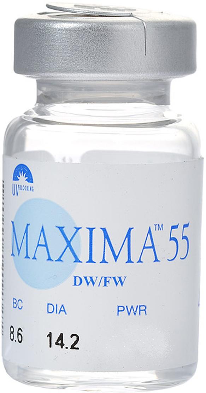 Maxima контактные линзы 55 UV (1шт / 8.6 / -5.25)44359Контактные линзы Maxima 55 UV - очень качественные и недорогие линзы. Продвинутый, смоделированный по особой технологии, дизайн контактных линз Maxima 55 UV имеет исключительно тонкие и сглаженные края. Эта технология изготовления также сокращает возможность брака до нуля. Кроме всего, тонкий центр и края контактных линз Maxima 55 UV обеспечивают высокий комфорт ношения, а также высокую кислородную проницаемость. Линза хорошо держит форму, поэтому ее удобно одевать и снимать. Замена через 6 месяцев. Характеристики:Материал: окуфилкон Д. Кривизна: 8.6. Оптическая сила: - 5.25. Содержание воды: 55%. Диаметр: 14,2 мм. Количество линз: 1 шт. Размер упаковки: 2 см x 2 см х 4 см. Производитель: Великобритания. Товар сертифицирован.Контактные линзы или очки: советы офтальмологов. Статья OZON Гид
