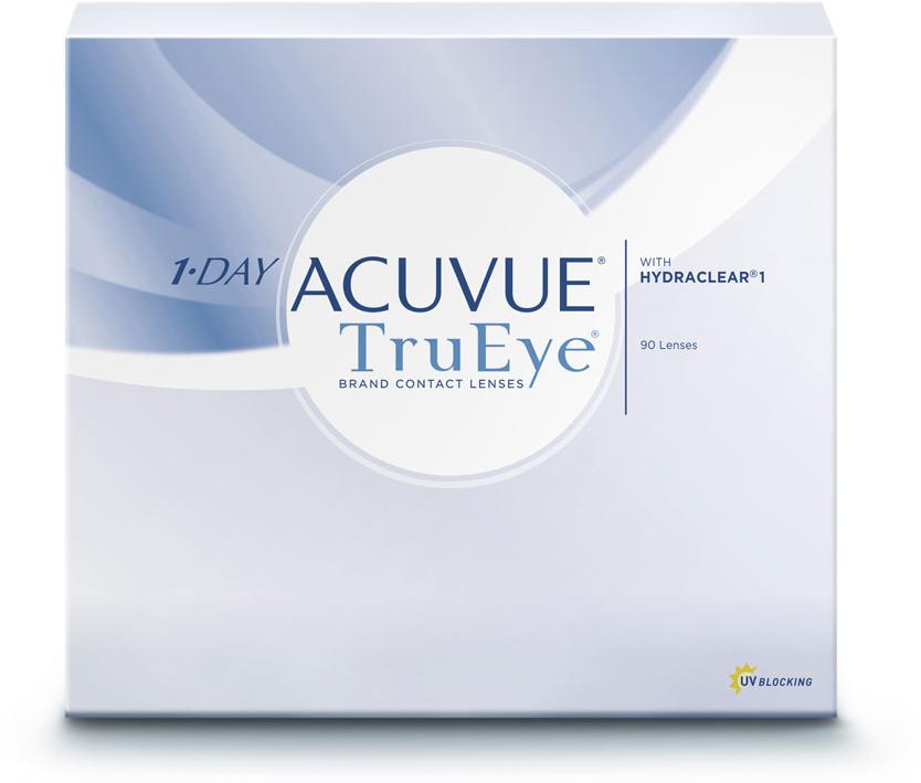 Johnson & Johnson Контактные линзы 1-Day Acuvue TruEye (90 шт. / 9.0 / - 3.75)