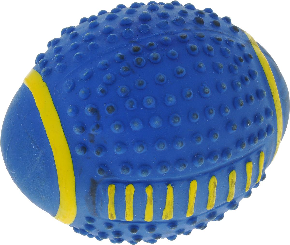 Мяч для собак Camon, цвет: синий, 9 смA035_синийИгрушка Camon для собак - это супер прочная, супер безопасная и супер увлекательная игрушка. Мячик при бросании отскакивает по непредсказуемой траектории. Что обеспечивает часы веселья и удовольствия. Запатентованный материал и дополнительные массажные элементы-шипы гарантируют, что ваша собака будет наслаждаться игрой с мячом в течение длительного времени. Очень прочный.Непредсказуемый отскок.Средний размер для собак весом от 6 до 15 кг.Мячик плавает.