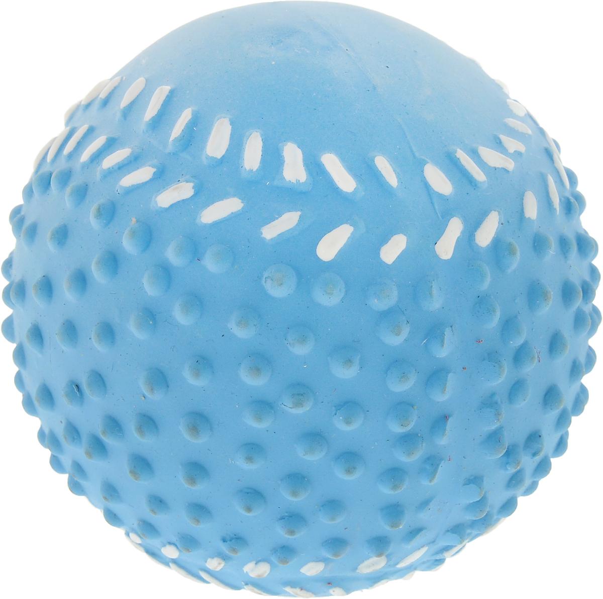 Мяч для собак Camon, цвет: голубой, 9 смA035_голубойИгрушка Camon для собак - это супер прочная, супер безопасная и супер увлекательная игрушка. Мячик при бросании отскакивает по непредсказуемой траектории. Что обеспечивает часы веселья и удовольствия. Запатентованный материал и дополнительные массажные элементы гарантируют, что ваша собака будет наслаждаться игрой с мячом в течение длительного времени.Очень прочный.Непредсказуемый отскок.Средний размер для собак весом от 6 до 15 кг.Мячик плавает.
