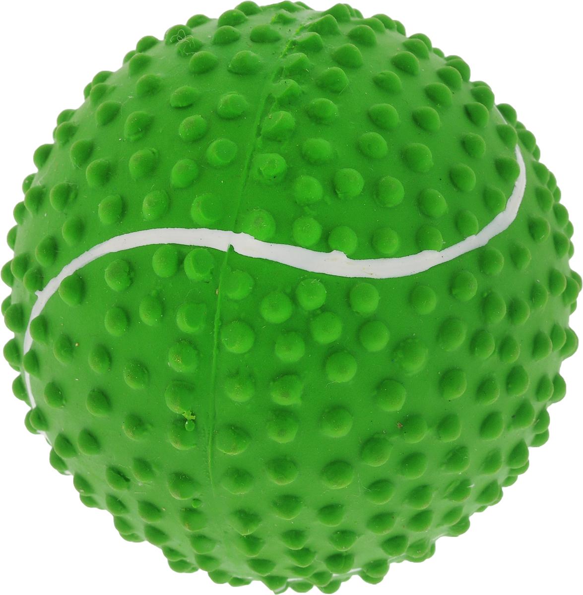 Мяч для собак Camon, цвет: зеленый, 9 смA035_зелёныйИгрушка Camon для собак - это супер прочная, супер безопасная и супер увлекательная игрушка. Мячик при бросании отскакивает по непредсказуемой траектории. Что обеспечивает часы веселья и удовольствия. Запатентованный материал и дополнительные массажные элементы гарантируют, что ваша собака будет наслаждаться игрой с мячом в течение длительного времени.