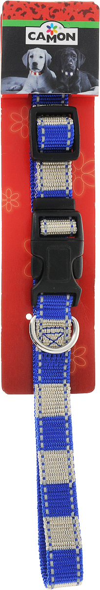Ошейники для собак Camon StripeReflex, цвет: синий, бежевый, ширина 2 смDC052/BОшейник Camon StripeReflex изготовлен из прочного нейлона. Изделие отличается высоким качеством, удобством и универсальностью.Размер ошейника регулируется при помощи пластового фиксатора. Имеется металлическое кольцо для крепления поводка. Ваша собака тоже хочет выглядеть стильно! Модный ошейник, декорированный металлическими элементами в виде косточек, станет для питомца отличным украшением и выделит его среди остальных животных.