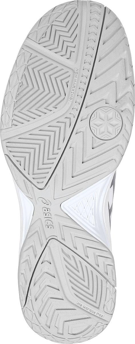 Кроссовки для тенниса мужские Asics Gel-Dedicate 5, цвет:  белый, серебристый.  E707Y-0193.  Размер 12H (45,5) Asics