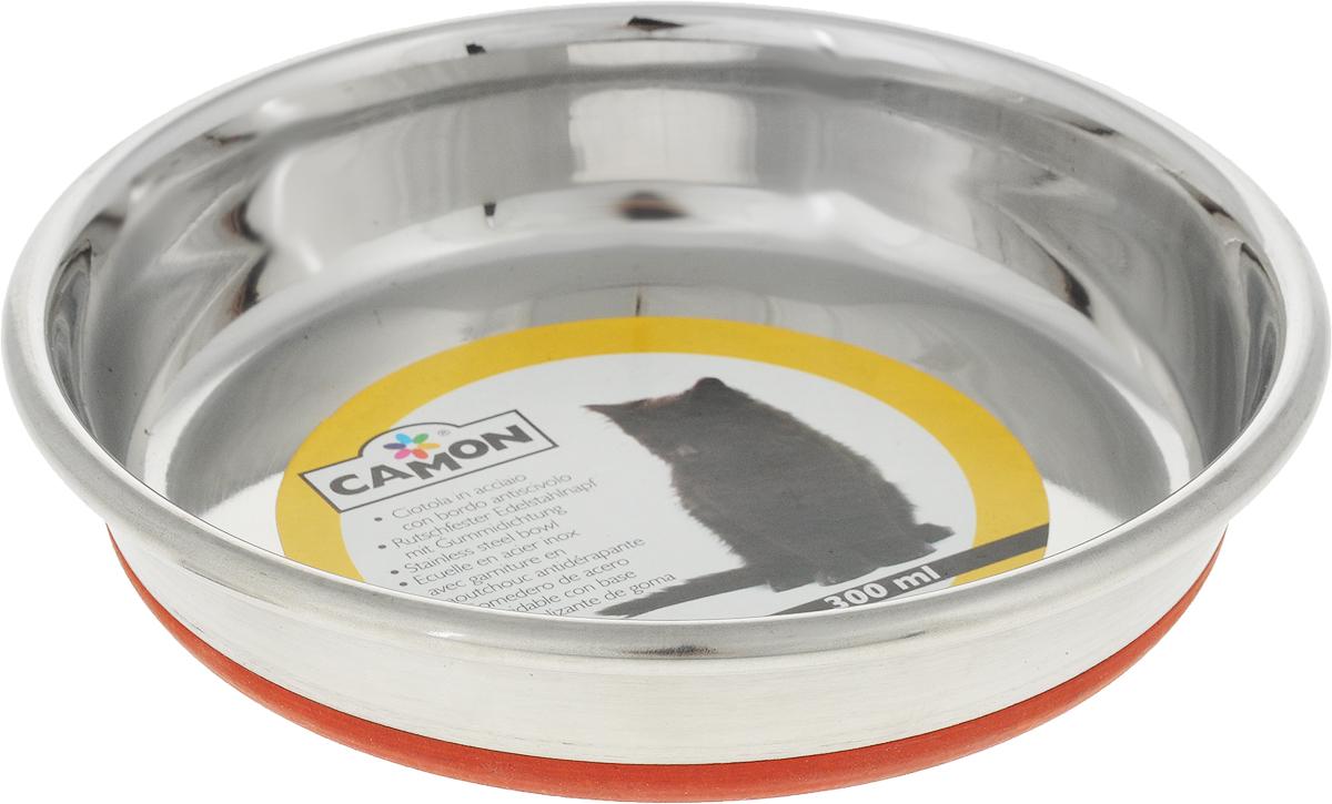 Миска для кошек Camon, с противоскользящим дном, 300 млC043/2Миска для кошек Camon, изготовленная из высококачественного металла, имеетоднотонный дизайн. Изделие подойдет для сухого корма, консервов или воды.Основание миски оснащено силиконовой накладкой, которая предотвратит скольжение иповреждение пола.Диаметр: 13 см.Объем: 300 мл.
