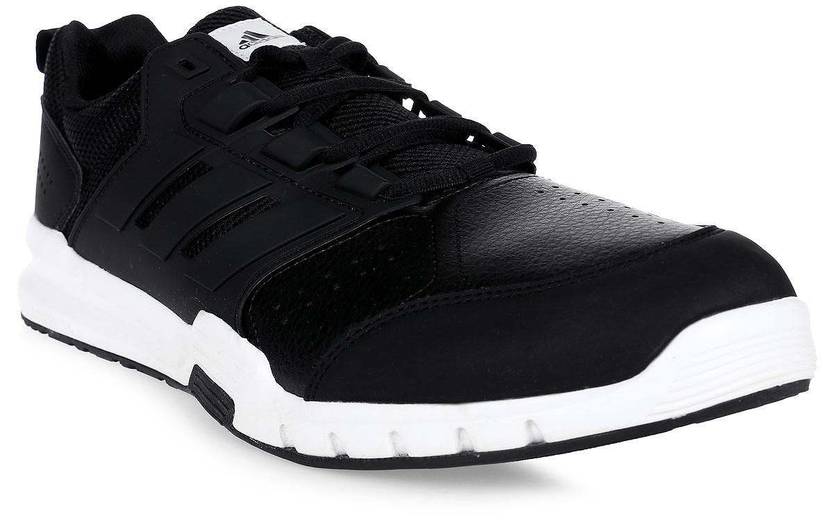 Кроссовки для бега мужские Adidas Galaxy 4 Trainer, цвет: черный. BY2375. Размер 11,5 (45)BY2375Благодаря поддерживающему каркасу в средней части стопы мужские кроссовки Galaxy 4 Trainer обеспечивают ногам устойчивость во время интервальных тренировок. Верх с сетчатой подкладкой усиливает вентиляцию, а промежуточная подошва cloudfoam смягчает каждый шаг.