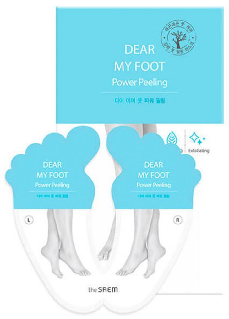 The Saem Пилинг для ног Dear My Foot Power Peeling, 40 мл*2СМ2346Пилинг- носочки для ног, оказывающие мягкое отшелушивающее воздействие. Вернут Вашей коже стоп упругость, мягкость и гладкость, избавят от мозолей, натоптышей и микротрещин.